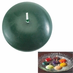 """3"""" Pine Green Candle Floats Floating Candles, Set of 16"""