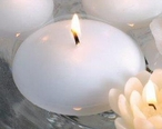 """3"""" White Candle Floats Floating Candles, Set of 16"""