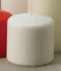 "3"" White Unscented Pillar Candles, Set of 12"