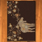 3' x 4' Moose Blossom Chocolate Wildlife Rectangle Scatter Rug