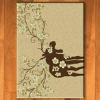 3' x 4' Abstract Moose Blossom Natural Wildlife Rectangle Scatter Rug