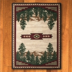 3' x 4' Autumn Point Mountain Scene Nature Rectangle Scatter Rug