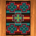 3' x 4' Bounty Bright Southwest Rectangle Scatter Rug