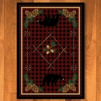 3' x 4' Deep Woods Bear Red Wildlife Rectangle Scatter Rug