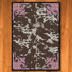 3' x 4' Fancy Cowhide Brown and Pink Western Rectangle Scatter Rug