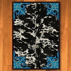 3' x 4' Fancy Cowhide Turquoise Western Rectangle Scatter Rug