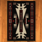 3' x 4' Horse Thieves Black Southwest Rectangle Scatter Rug