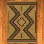 3' x 4' Hour Glass Fall Southwest Rectangle Scatter Rug
