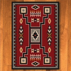 3' x 4' Old Crow Red Southwest Rectangle Scatter Rug