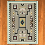 3' x 4' Old Crow Suede Turquoise Southwest Rectangle Scatter Rug