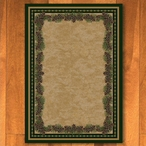 3' x 4' Pine Cone Mountain Green Nature Rectangle Scatter Rug