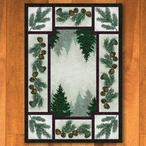 3' x 4' Pine Forest with Pinecones Nature Rectangle Scatter Rug