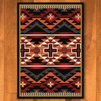 3' x 4' Rustic Cross Black Southwest Rectangle Scatter Rug