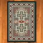 3' x 4' Sawtooth Raincloud Southwest Rectangle Scatter Rug