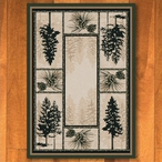 3' x 4' Stoic Pines Forest Nature Rectangle Scatter Rug