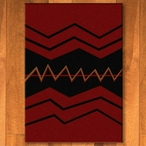 3' x 4' War Path Red Southwest Rectangle Scatter Rug