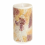 """3"""" x 6"""" Simplux LED Mosaic Candles with Moving Flame, Set of 2"""