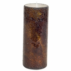 """3"""" x 8"""" Simplux LED Brown Mosaic Candles with Moving Flame, Set of 2"""