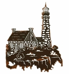 """30"""" Lighthouse Scenic View Metal Wall Art"""