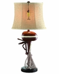 "30"" Motor Boating with Net & Lure Table Lamp"
