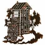 "30"" Outhouse Metal Wall Art"