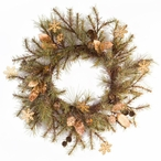 """30"""" Pine Wreath with Bells and Snowflakes Silk Wreath"""