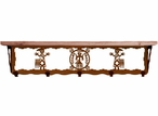"""34"""" Yei Metal Wall Shelf and Hooks with Alder Wood Top"""