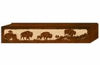 "36"" Buffalo Family Scenic Metal Window Valance"