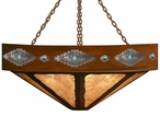 """36"""" Desert Diamond with Stone and Concho Round Metal Chandelier"""