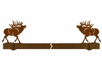"36"" Elk Wall Mount Metal Pot Rack"