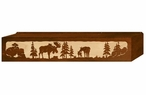 "36"" Moose Family Scenic Metal Window Valance"