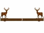 "36"" Whitetail Deer Wall Mount Metal Pot Rack"