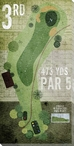 3rd Hole Golf Wrapped Canvas Giclee Print Wall Art