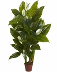 4.5' Spathiphyllum Real Touch Silk Plant