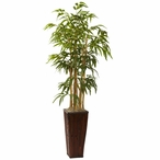 4' Bamboo Silk Plant with Decorative Planter