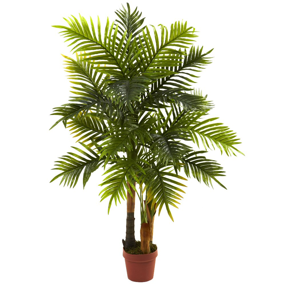 4 39 real touch silk areca palm tree artificial trees for Artificial plants for decoration