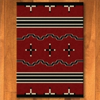 4' x 5' Big Chief Red Southwest Rectangle Rug