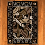 4' x 5' Hand Coiled Black Cherokee Inspired Rectangle Rug