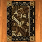 4' x 5' Hand Coiled Natural Cherokee Inspired Rectangle Rug