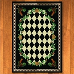 4' x 5' High Country Rooster Black Rectangle Rug