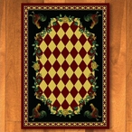 4' x 5' High Country Rooster Red Rectangle Rug