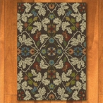 4' x 5' Infinity Oak Leaves Brown Nature Rectangle Rug