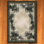 4' x 5' Noble Pines Natural Nature Rectangle Rug