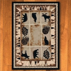 4' x 5' Northern Wildlife Brown Shades Rectangle Rug