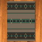 4' x 5' Old Timer Turquoise Southwest Rectangle Rug