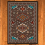 4' x 5' Persian Southwest Brown Rectangle Rug