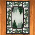 4' x 5' Pine Forest with Pinecones Nature Rectangle Rug