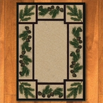 4' x 5' Valley Forest Nature Pinecones Rectangle Rug