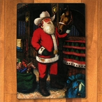 4' x 5' Western Santa with Horse Multi Color Rectangle Rug