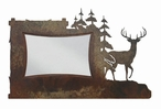 "4"" x 6"" Deer and Pine Trees Metal Picture Frame"